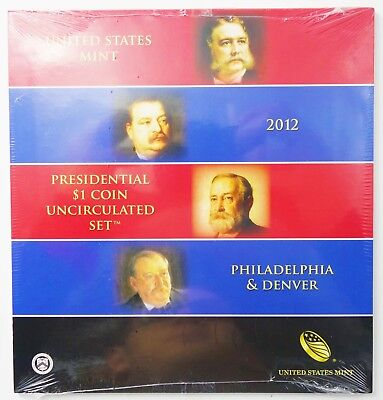 2012 US Mint Presidential $1 Coin Uncirculated Set P & D 8 Coin Set Sealed C304