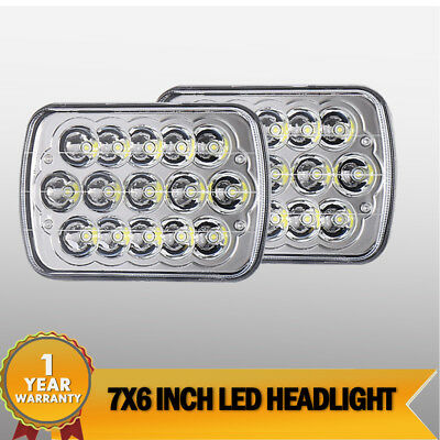 Rectangle Sealed Beam Headlamps Headlights Work Set of 2 for Chevy Pickup Truck