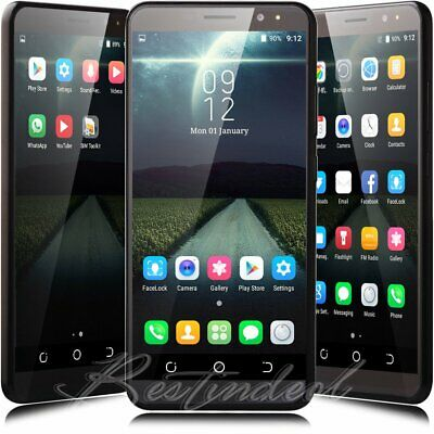 """New 6"""" Quad Core Dual Sim Unlocked AT&T Android 7.0 Smart Mobile Cell Phone USA"""