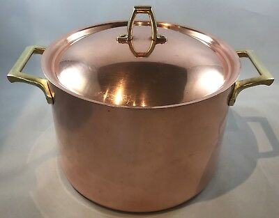 Paul Revere Ware 1801 USA Vintage Solid Copper 4 Qt Covered Pot