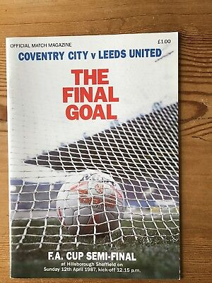 Coventry City v Leeds United FAC Semi final 12/04/87 FREE UK P&P EX
