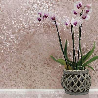Rose Gold Crushed Velvet Effect Wallpaper Metallic Foil Vinyl by Arthouse 294300