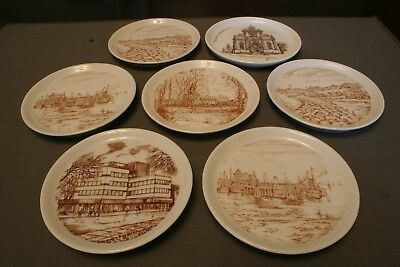 Vintage Porcelain Coasters or Mini Plates - Lot of Seven - Made In Germany