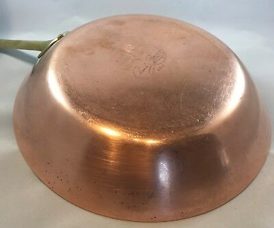 Paul Revere Ware 1801 USA Vintage Solid Copper 10 1/2 inch Open Skillet Pan