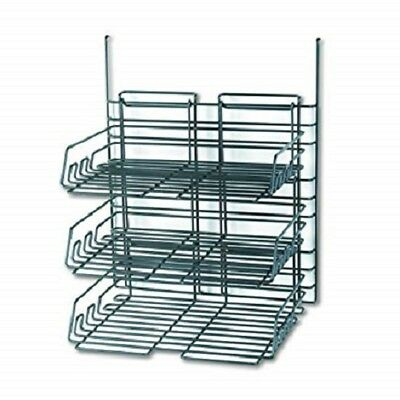 Safco 4150CH Panelmate Cubicle Triple Tray Set, Charcoal