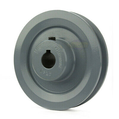 """4"""" Cast Iron 3/4"""" Shaft Pulley Sheave Single 1 Groove V Style A Belt 4L New"""