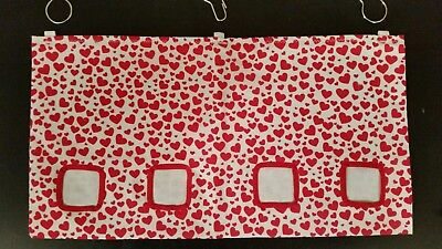 Fabric Hay bag red hearts - guinea pig, bunny