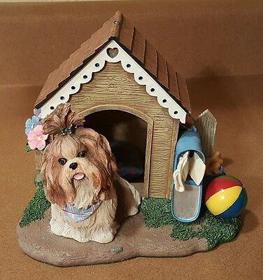 """Shih Tzu """"Home Sweet Home"""" The Danbury Mint Collection (Retired) Dog House"""