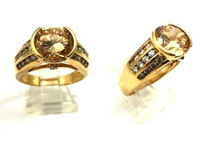 Beautiful Gold over Sterling Silver Women's Ring