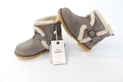 Zara Baby Girl Boots Genuine Leather Shoes Size 25 US 8