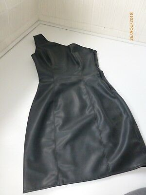 Latex kein Leder! Rubber Gummi Damen Kleid Dress Mini Gr S M 36 Schwarz