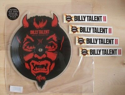 """BILLY TALENT Devil In A Midnight Mass 7"""" Picture Disc Vinyl Shaped & Stickers"""