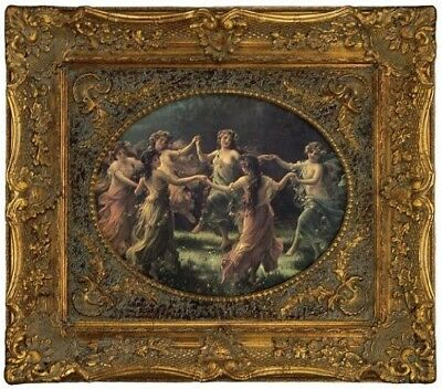 Victorian Trading Co Circle Of Joy Fairy's Dancing Framed Print