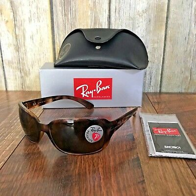 Women's Ray-Ban RB4068 Acetate Sunglasses 60mm Polarized Crystal Brown Tortoise