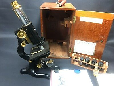ANTIGUO MICROSCOPIO W. WATSON & SONS LTD Año 1910
