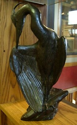 Spring Plumage by Kent Ullberg Cast Bronze Sculpture Heron