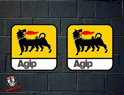 Pegatina Sticker Autocollant Adesivi Aufkleber Decal 2X Eni Agip Oil Laminate