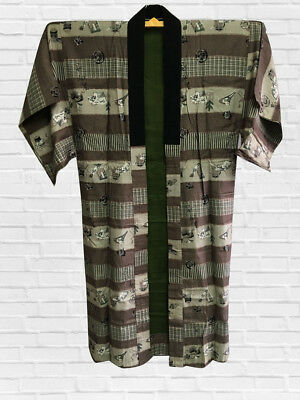 Vintage Japanese Kimono, Mens Juban, Craft Material, From Japan, Culture