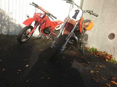 KTM SXR 50 Pro Junior + Malaguti Grizzly 10 Kindermotorräder Pocketbike