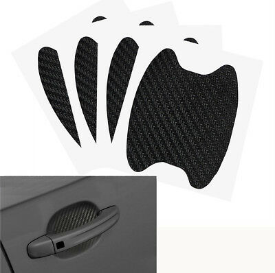 4Pcs 3D Carbon Fiber Car Door Handle Anti-Scratch Protective Cover Trim Sticker