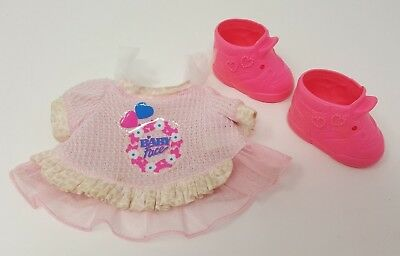 Galoob Baby Face Doll Clothes So Innocent Cynthia Clothing Dress Shoes #7 Vtg