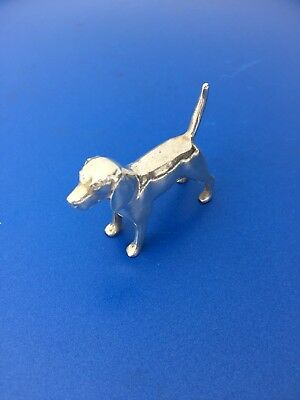 S. Kirk & Son Stering Silver Miniature Dog Paperweight