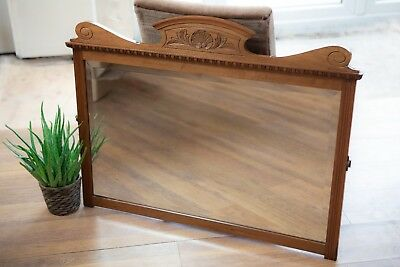 Beautiful vintage over mantle/dresser carved wooden mirror
