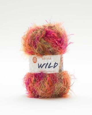 3 x 50g Sirdar Wild Furry with Free Snood Pattern shade 410