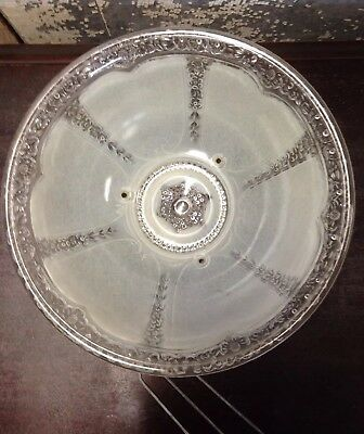 Antique Vintage Ornate Frosted Glass Shade Ceiling Light Art Deco ***