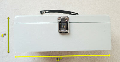 Cash Box with Money Tray Lock & Key Steel Cashier Drawer ~ Full Size Coin Trray