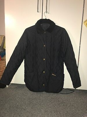 Barbour Annondale Quilted Jacket Coat Womens Size 10 - 12 UK Navy Blue