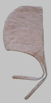 Medieval Man's Linen Coif in Unbleached, Natural Linen