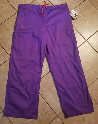 Med Couture Womens Scrub Pants - Pants Size XL - Purple - NEW WITH TAGS