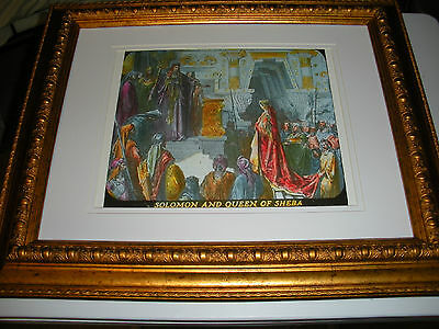 """C.T. Russell PHOTO-DRAMA OF CREATION photo """"Solomon and Queen"""" Watchtower IBSA"""