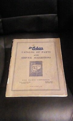 "Vintage ""The Eden "" Catalog of Parts and Service Suggestions Washing Machine"
