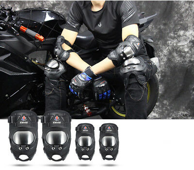 4pcs Motorcycle Protective Knee Elbow Pad Protector Moto Racing Guards Motocross