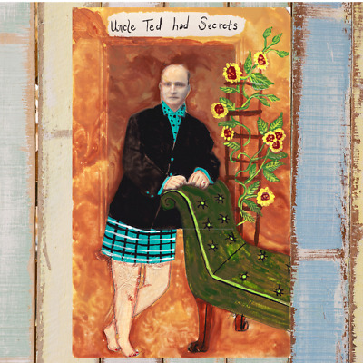 Uncle Ted Had Secrets original painting on antique photo lowbrow outsider art