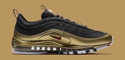 Nike Air Max 97 Metallic Gold Qs-Og Gold New Shoes Silver
