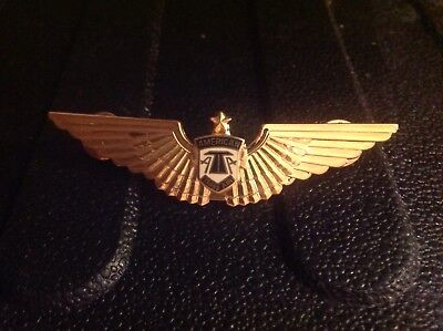 ATA Airlines First Officer's Pilot Crew Wings Pin Badge