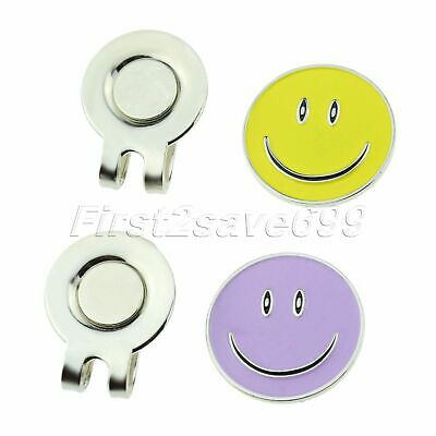 Creative Smile Face Type Magnetic Golf Ball Marker With Hat Clip For Cap Visor