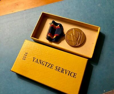 US Navy Yangtze US mint medal #9155 w/match numbered box, exc. cond.
