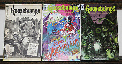 IDW Goosebumps: Monsters at Midnight # 1-3 COMPLETE SET - ALL B Cvrs 1sts