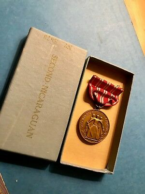 US Navy Second Nicaragua Campaign medal No. 8679 mint w/matching box-