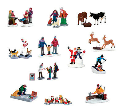 Lemax  Village People Figurine  Village Accessory  Resin  3 pc. Assorted