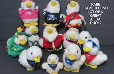 AFLAC PLUSH DUCKS LOT Christmas Tree Elf Doctor Lifeguard Plus More!!!