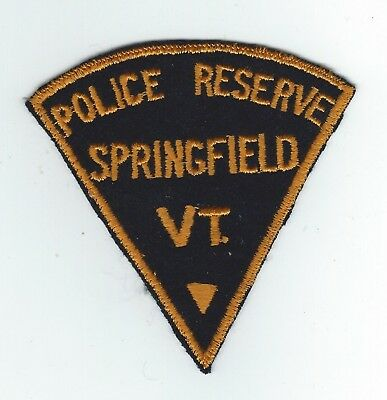 VINTAGE SPRINGFIELD, VERMONT POLICE RESERVE (EMBROIDERED ON WOOL/FELT) patch