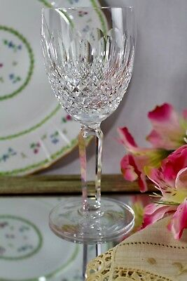Waterford Crystal Colleen Cut Small Cross Hatch/Ovals Claret Wine Tall Stem