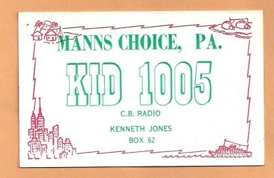 Vintage QSO, QSL postcard from Manns choice Pa.