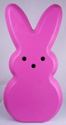 "Peeps Pink Bunny Blow Mold General Foam Easter 28"" Tall Light Up Blowmold New"