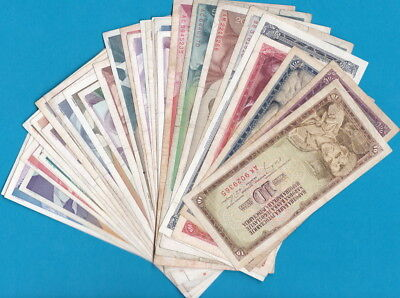 Yugoslavia- Lot of 37 banknotes, all different